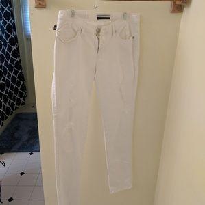 Rock & Republic White Distressed Jeans
